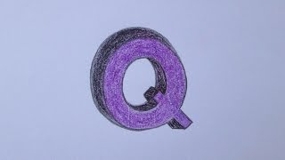 How to draw the letter Q