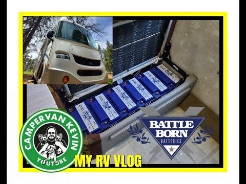 RV Solar Install Has Begun With SIX Beautiful Battle Born Lithium Batteries! !