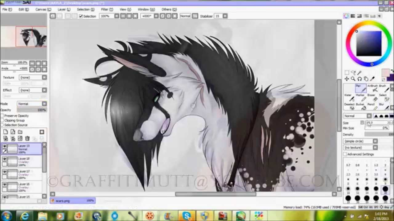 Old [hd] Scars  Drawing In Paint Tool Sai
