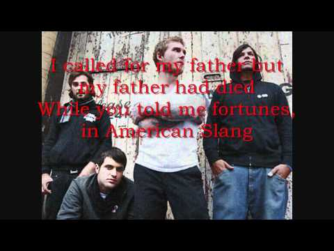 The Gaslight Anthem - American Slang (lryics)