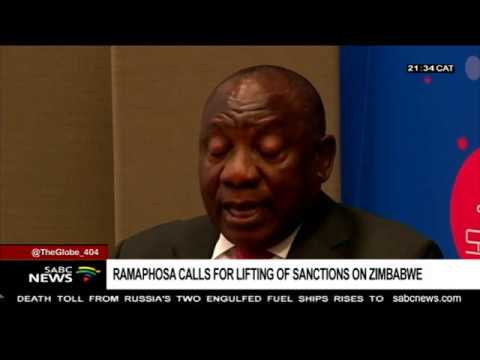 SA calls for sanctions against Zimbabwe to be lifted