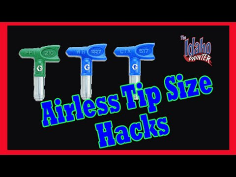 Recommended Airless Painter Sprayer Tips.  Airless paint sprayer tutorials