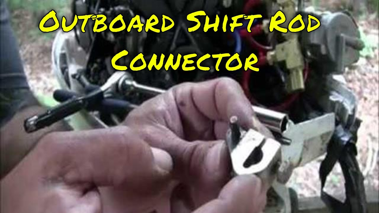 1988 Johnson Or Evinrude Outboard Motor Shift Rod Linkage Link Connector Location Youtube