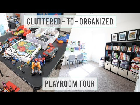 How to Declutter Kids' Toys and an Organized Playroom Tour