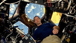 ISS: French astronaut Thomas Pesquet gives interview to AFP
