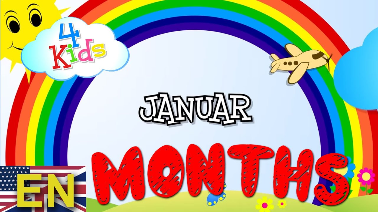 Months of the Year learning video for children and toddlers  January to  December (english)
