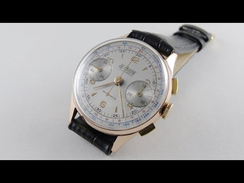 Pink Gold Le Phare vintage chronograph wristwatch, circa 1950