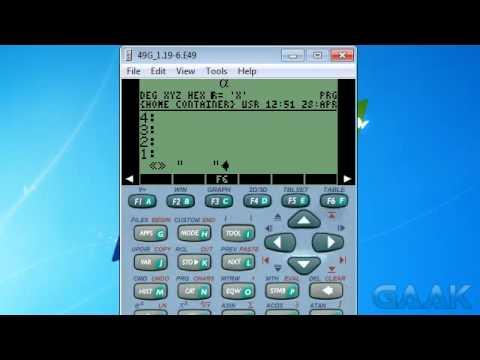 HP calculators: Transparent menu names on 49 series - Gaak
