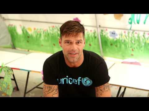 Ricky Martin en su visita a UNICEF Lebanon