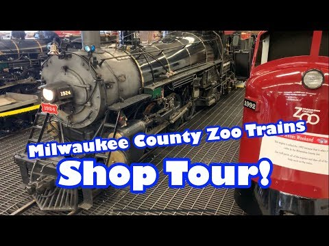 Behind the scenes at the Milwaukee County Zoo train shop Steam & Diesel Trains!