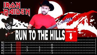 【IRON MAIDEN】[ Run To The Hills ] cover by Masuka | LESSON | GUITAR TAB