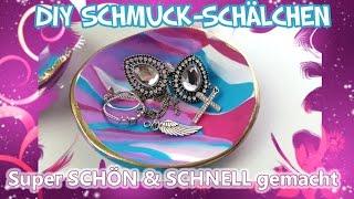 DIY Geschenk - Schmuck Schale zum Selbermachen z.B. zu Ostern / Muttertag - Fimo Knete