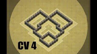 Clash of Clans CV 4 Layout Guerra!