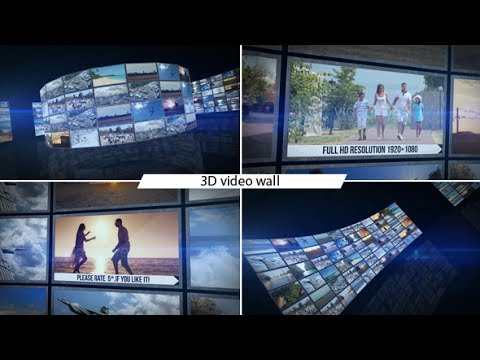 After Effects Template Video Wall