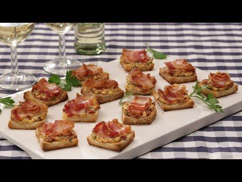 Fingerfood: Bacon-Tomaten-Frischkäse-Häppchen