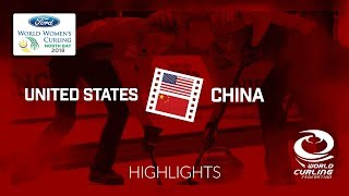 HIGHLIGHTS: United States v China – Round-robin – Ford World Women's Curling Championship 2018