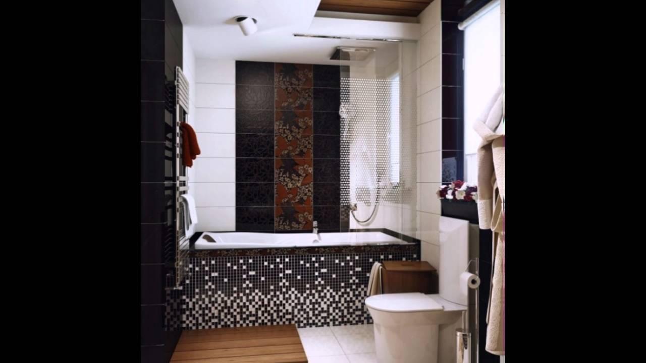 Schwarz Weiß Braun Badezimmer