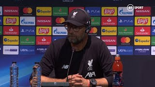 """Our supporters are everywhere!"" Jurgen Klopp's full press conference after UEFA Super Cup win"