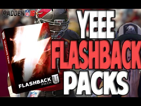 DEAR MADDEN GODS!! PLEASE TWO FLASHBACK PACKS | MADDEN 16 ULTIMATE TEAM PACK OPENING