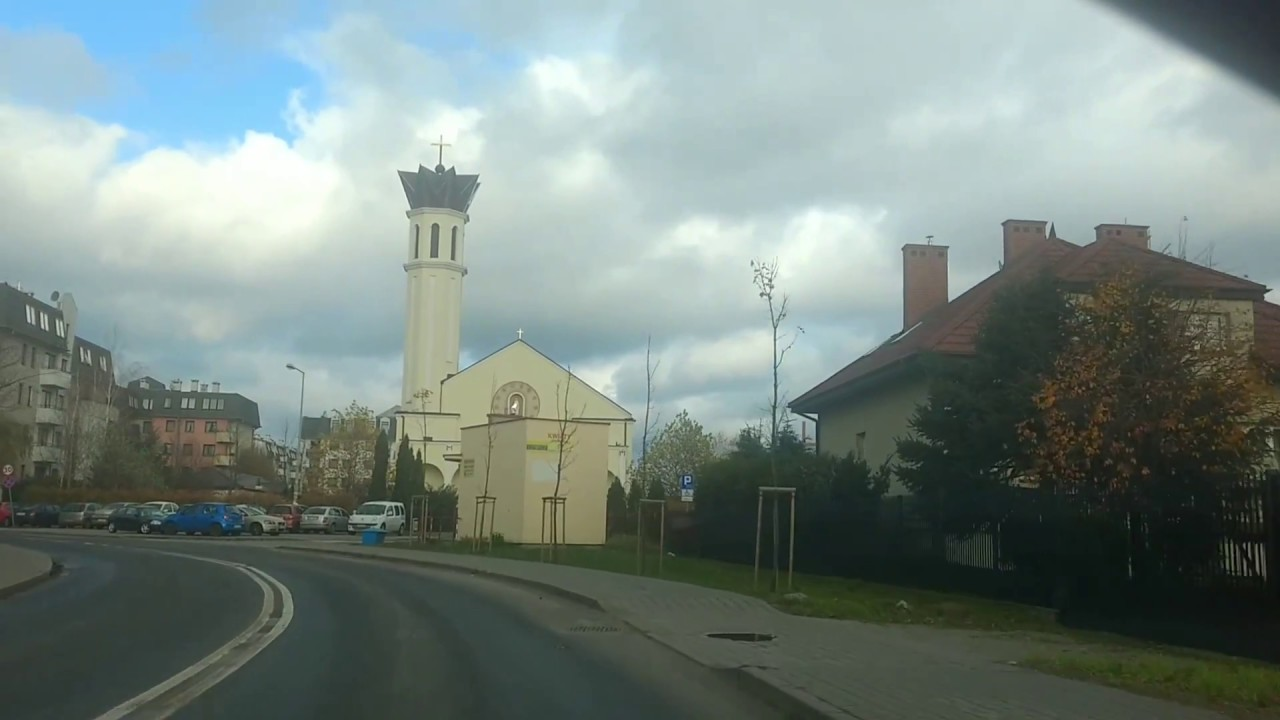 Driving in Poland - Warsaw suburbs - leaving behind Piaseczno