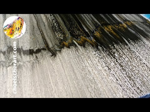 🧙Acrylic Pour Painting PART 1 of 2- Swipe Technique Demonstration - HUGE 24 x 48 Canvas (SOLD)🧙