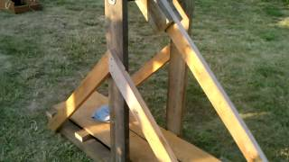 Trebuchet Firing A Water Balloon