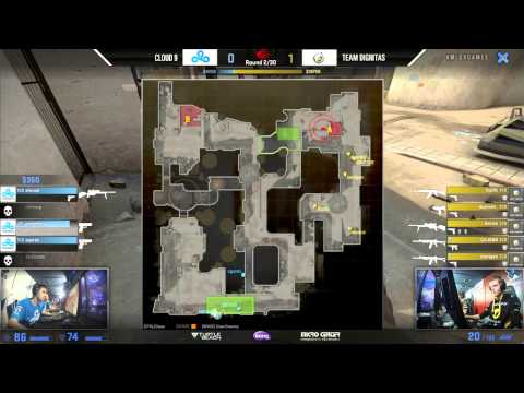 Cloud 9 vs Dignitas   Group A   #MLGXGames Aspen 2015   CSGO