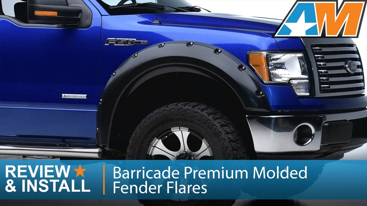 2009 2014 F 150 Barricade Premium Molded Fender Flares Excluding