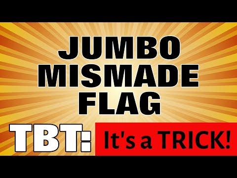 Jumbo Mismade American Flag- MagicTricks.com