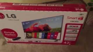 "Unboxing, Setup, Impressions LG 42LB6300 42"" LED TV WebOS"