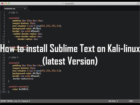 how to install sublime text 3 kali linux 2.0