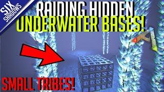 SOLO RAIDING HIDDEN UNDERWATER BASES!   Small Tribes - Ark: Survival Evolved