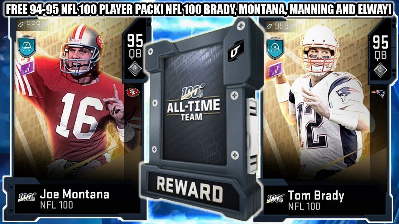 Free 94 95 Nfl 100 Player Pack Nfl 100 Qbs Montana Brady Peyton And Elway Madden 20 Youtube