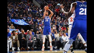 Ben Simmons Hits First Career 3-Pointer Against New York Knicks