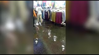 Flash flood at Jalan Raja's Ramadan Bazaar