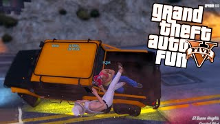 GTA 5 Next Gen Fun - A Titan of a Job Mission (Grand Theft Auto V Funny Moments)