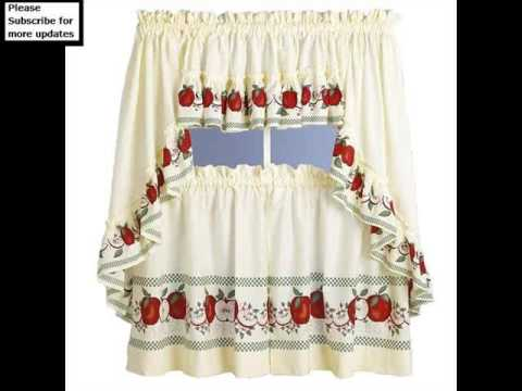 Kitchen Curtains In Difftrent Colors And Designs
