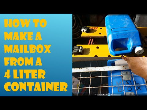 DIY, How to Make a Mailbox From a 4 Liter Container