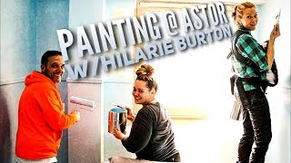 Painting at Astor With Hilarie Burton