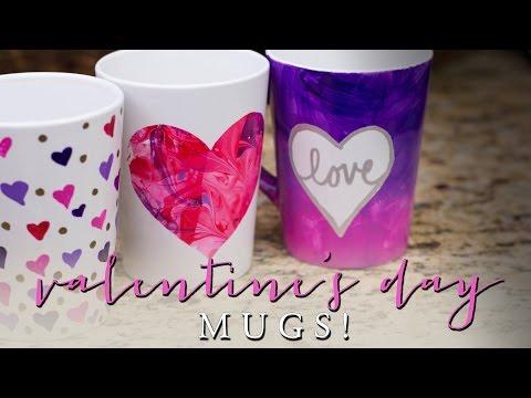 DIY Valentine's Day Gifts | Kid Friendly Mugs!