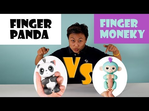 Finger panda vs finger monkey, fingerling interactive toy Christmas, best interactive toy for kid
