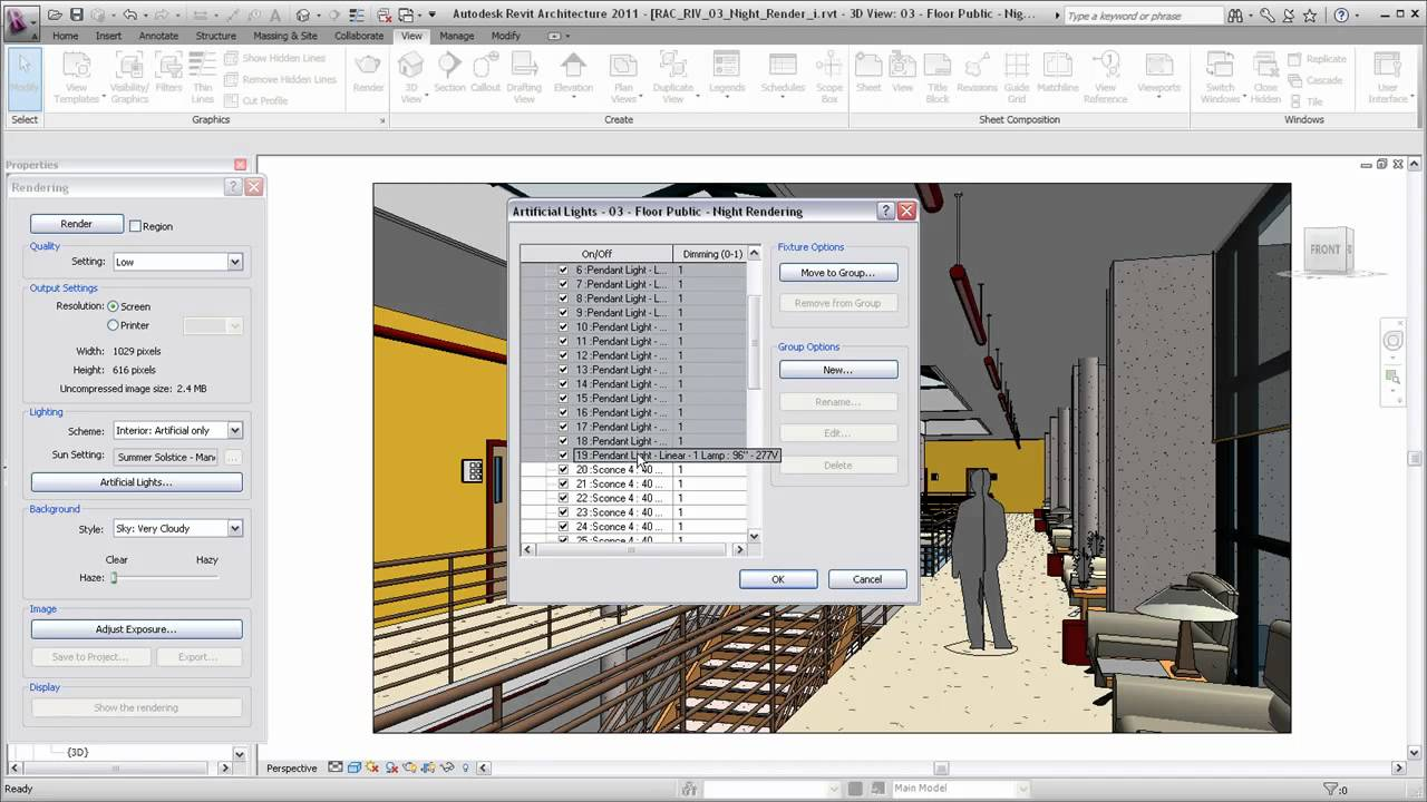 Autodesk Revit Architecture Rendering a View with Artificial Lighting  sc 1 st  YouTube & Autodesk Revit Architecture: Rendering a View with Artificial ... azcodes.com