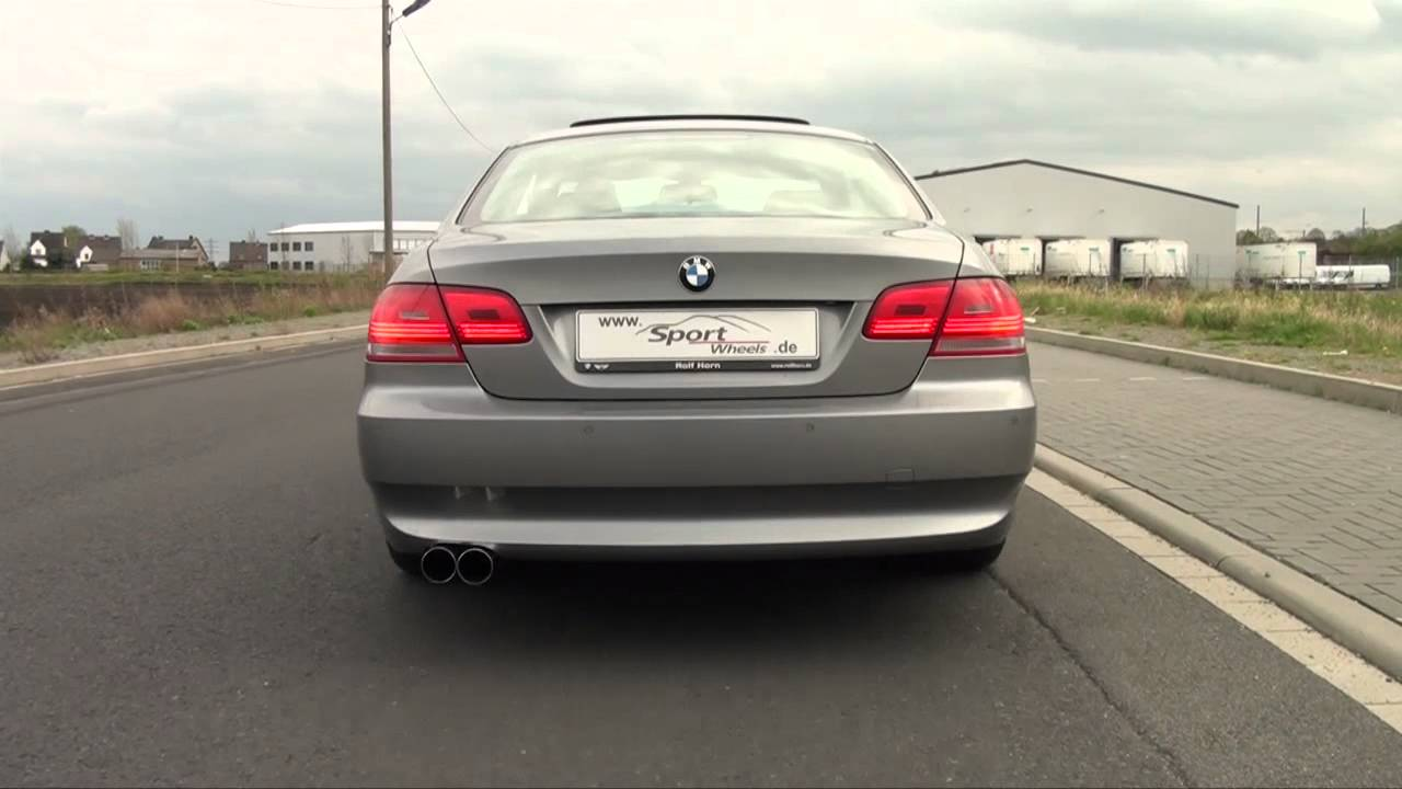 bmw 3er e90 e91 e92 e93 325i eisenmann esd auspuff exhaust soundvideo www sport. Black Bedroom Furniture Sets. Home Design Ideas