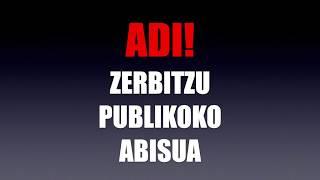 ZERBITZU PUBLIKOKO ABISUA