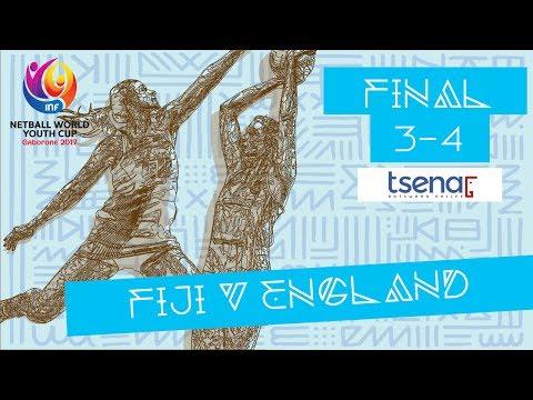 BRONZE MEDAL MATCH   Fiji v England   #NWYC2017