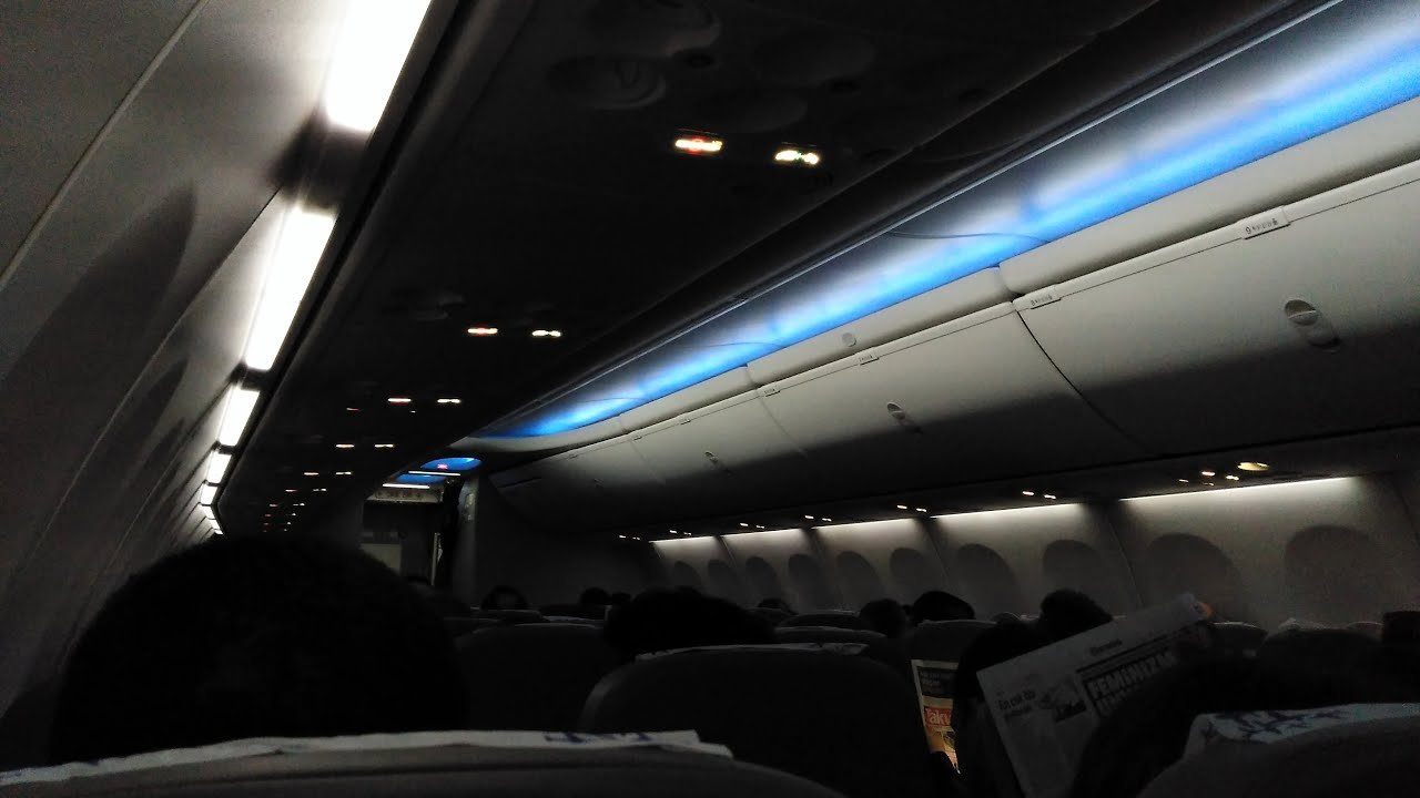 On Board The Boeing Sky Interior 737 800 In Flight