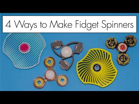 3D Pen and 3D Printed Fidget Spinners // FOUR Ways to Make Spinners