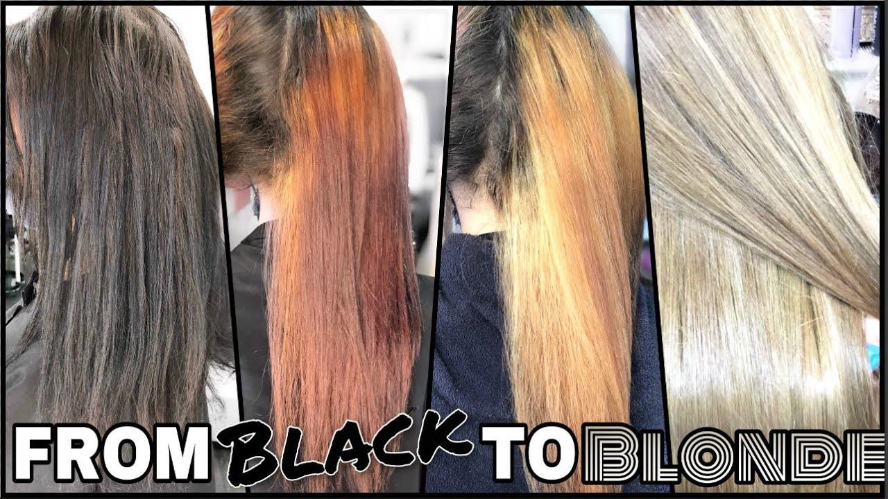 Download ⚡Passer du NOIR au BLOND CENDRÉ ⋙ Les ÉTAPES🧐, les PRODUITS UTILISES✨SANS ABÎMER vos cheveux#Olaplex