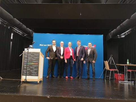 AfD Ortsverband Unteres Jagsttal mit André Poggenburg in Möckmühl 31.10.2018