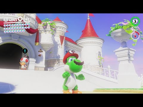 Super Mario Odyssey - Princess Peach Castle (Mushroom Kingdom Gameplay)